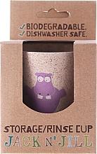 """Perfumería y cosmética Taza de enjuague bucal biodegradable de bambú & cáscaras de arroz """"Hippo"""" - Jack N' Jill"""