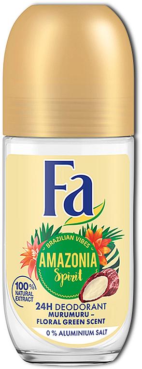 Desodorante roll-on con fragancia a murumuru - Fa Amazonia Spirit Deo Roll On