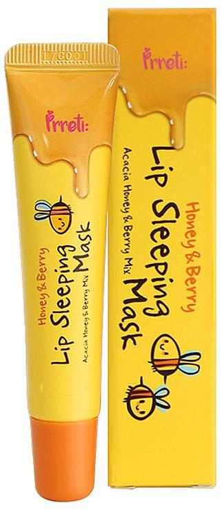 Mascarilla labial de noche con miel y bayas - Prreti Honey & Berry Lip Sleeping Mask
