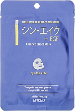 Perfumería y cosmética Mascarilla facial de tejido con factor de crecimiento epidérmico (EGF) - Mitomo Essence Sheet Mask Syn-Ake + EGF