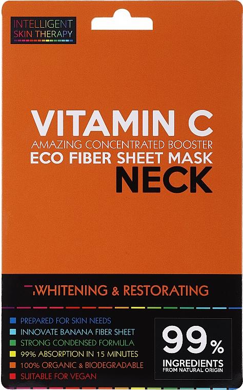 Mascarilla de tejido blanqueadora para cuello con vitamina C - Beauty Face IST Whitening & Restorating Neck Mask Vitamin C