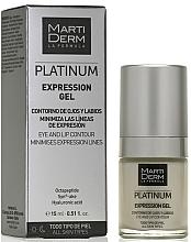Perfumería y cosmética Gel para el contorno de ojos y labios - MartiDerm Platinum Expression Gel