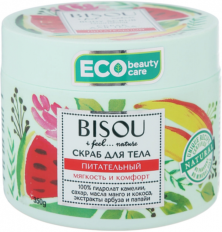Exfoliante corporal con aceites de coco y mango - Bisou I feel... Nature Nourishing Body Scrub