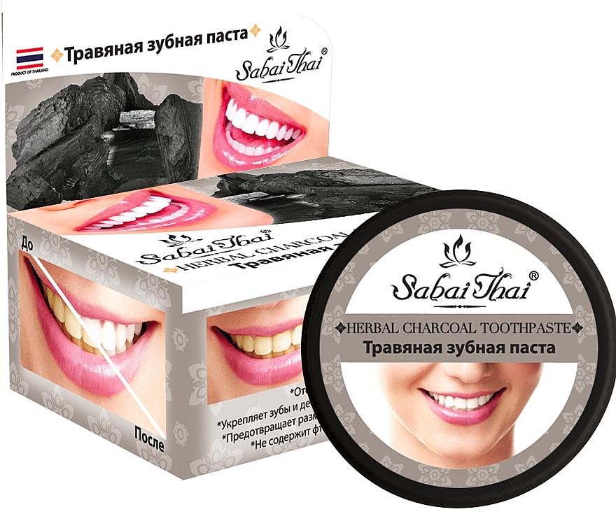 Pasta dental con carbón vegetal - Sabai Thai Herbal Charcoal Toothpaste
