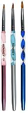 Perfumería y cosmética Set pinceles para manicura, 3uds. - Ronney Professional Acrylic Nail Art Brushes RN 00453