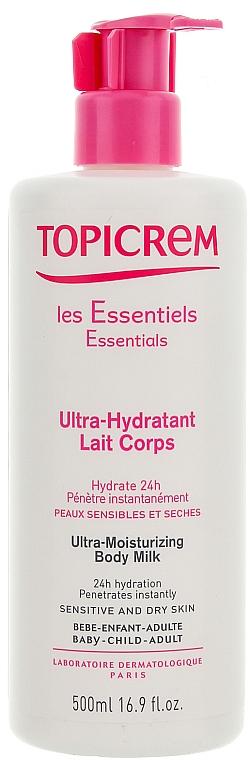 Leche corporal hidratante con glicerina para pieles secas y sensibles - Topicrem Ultra Hydratante