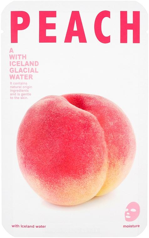 Mascarilla facial natural e hidratante con extracto de melocotón - The Iceland Peach Mask — imagen N1