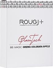 Perfumería y cosmética BB crema facial hidratante con color y SPF 15, se adapta al tono de la piel - Rougj+ GlamTech BB Magic Tinted Cream SPF15