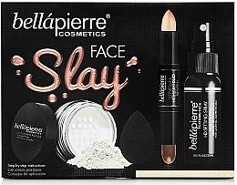 Perfumería y cosmética Set de maquillaje medium - Bellapierre Face Slay Kit Fair/Medium (stick contorno e iluminador/8.6g+polvo/6.5g+spray fijador/70ml+esponja blender/1ud.)