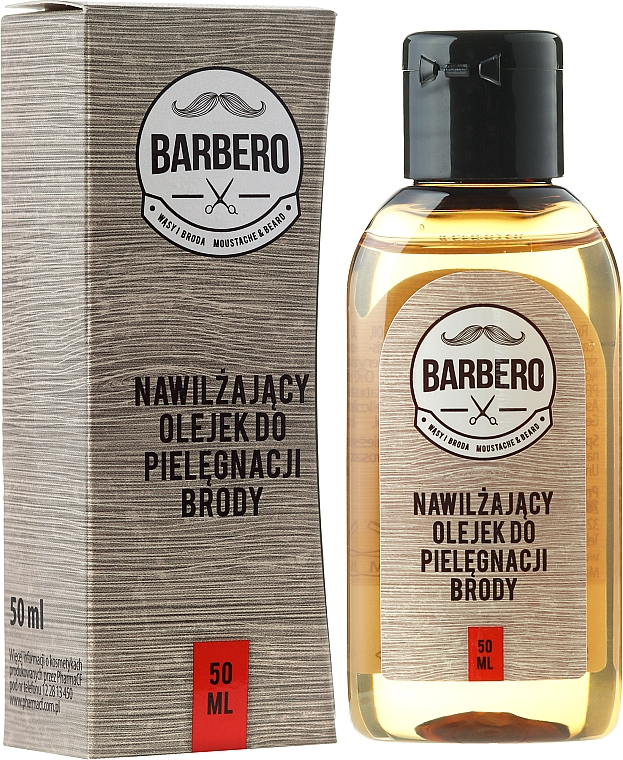Aceite de barba hidratante con vitamina E - Barbero Beard Care Moisturizing Oil