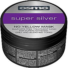 Perfumería y cosmética Mascarilla para cabello rubio y gris con pigmentos violetas anti tonos amarillos - Osmo Super Silver No Yellow Mask