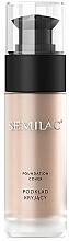 Perfumería y cosmética Base de maquillaje cremosa con efecto mate - Semilac Foundation Cover
