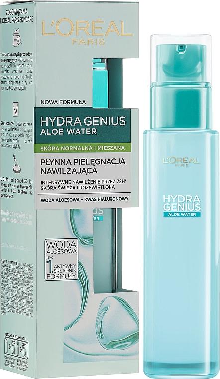 Aqua-fluido facial con agua de aloe vera - L'Oreal Paris Hydra Genius Aloe Water