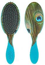 Perfumería y cosmética Cepillo de pelo con mango de goma, azul - Wet Brush Pro Detangler Free Sixty Peacock