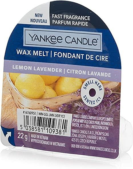 Cera aromática, limón y lavanda - Yankee Candle Lemon Lavender Wax Melt