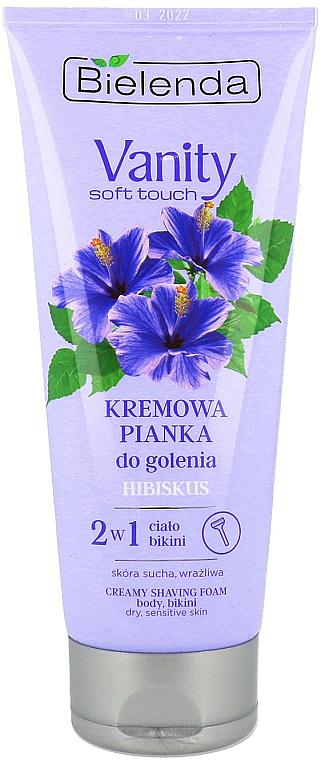 Espuma en crema depilatoria con extracto de hibisco - Bielenda Vanity Soft Touch Hibiscus