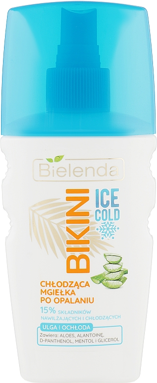 Spray corporal refrescante aftersun con jugo de aloe vera y pantenol - Bielenda Bikini Ice Cold After Sun