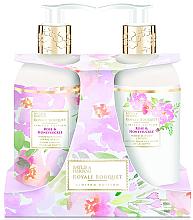 Perfumería y cosmética Set para el cuidado corporal con rosa y madreselva - Baylis & Harding Royal Bouquet Rose & Honeysuckle (loción/300ml + jabón líquido/300ml)