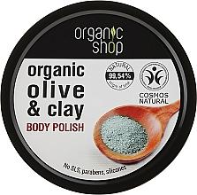 Perfumería y cosmética Exfoliante corporal orgánico con arcilla azul & aceite de oliva - Organic Shop Body Scrub Organic Olive & Clay