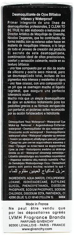 Desmaquillante de ojos resistente al agua con aceite seco mineral - Givenchy 2 Clean to Be True — imagen N2