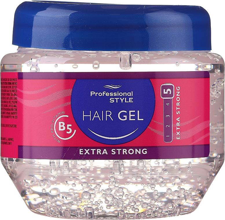 Gel de fijación extra fuerte - Professional Style Hair Gel Extra Strong