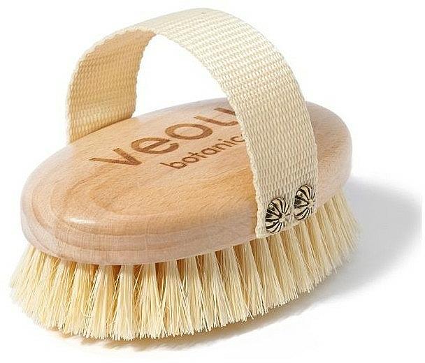 Cepillo de masaje corporal de madera de haya y agave - Veoli Botanica Just Brush It