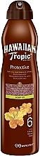 Perfumería y cosmética Aceite seco bronceador con aceite de argán - Hawaiian Tropic Protective Dry Oil Continuous Spray Aragan Oil SPF 6