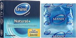 Perfumería y cosmética Preservativos ultrafinos, rosados y lubricados con forma cómoda, 3 uds. - Unimil Natural