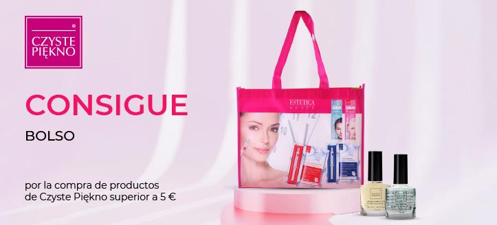 Por la compra de productos de la marca Czyste Piękno superior a 5 €, recibirás un bolso de regalo