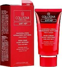 Perfumería y cosmética Crema-mascarilla para rostro y cuello con extracto de microalgas - Collistar Lift HD Mask Cream Night Recovery