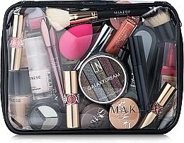Perfumería y cosmética Neceser cosmético, transparente (25x18x8cm) - MakeUp Visible Bag (sin contenido)