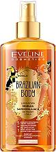 Perfumería y cosmética Autobronceador instantáneo para rostro y cuerpo, pieles claras y medias, con aceite de nuez y guaraná - Eveline Cosmetics Brazilian Mist Face & Body