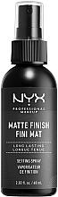 Perfumería y cosmética Spray fijador de maquillaje con extracto de plantago, acabado mate - NYX Professional Makeup Matte Finish Long Lasting Setting Spray