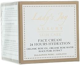 Perfumería y cosmética Crema facial hidratante con aceite y agua de rosas - Bulgarian Rose Lady's Joy Luxury Face Cream 24 Hours Hydration