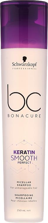 Champú micelar con queratina para cabello rebelde - Schwarzkopf Professional Bonacure Keratin Smooth Perfect Micellar Shampoo