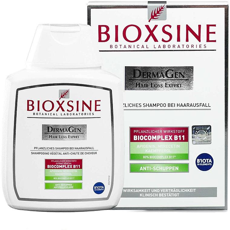 Champú vegetal anticaspa contra pérdida de cabello con ácido salicílico - Biota Bioxsine Dermagen Anti-Hair Loss Herbal Shampoo Anti-Dandruff