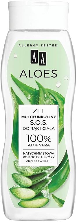 Gel para manos y cuerpo con aloe vera - AA Aloes 100% Aloe Vera Hand And Body SOS Gel