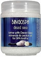 Perfumería y cosmética Sales de baño con minerales del Mar Muerto y aceite de cedro - BingoSpa Brine With Dead Sea Minerals For SPA Baths With Cedar And Baobab Seed Oil