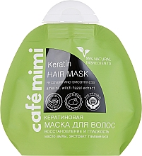 Perfumería y cosmética Mascarilla capilar natural de queratina con aceite de amla y extracto de hamamelis - Le Cafe de Beaute Cafe Mimi Keratin Hair Mask