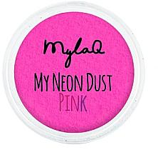 Perfumería y cosmética Polvo de uñas, rosa neón - MylaQ My Neon Dust