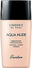Perfumería y cosmética Base de maquillaje hidratante suave con extracto de malva - Guerlain Lingerie de Peau Aqua Nude