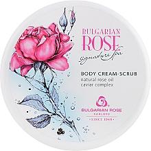 Perfumería y cosmética Crema corporal exfoliante con aceite natural de rosas y complejo de caviar - Bulgarian Rose Signature Spa Body Cream-Scrub