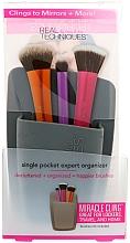 Perfumería y cosmética Organizador de porta brochas de maquillaje ,gris - Real Techniques Single Pocket Expert Organizer Grey