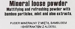 Polvo suelto de maquillaje mineral mate con partículas de bambú, extracto de menta y aloe - Miyo I Fell Mint Mineral Loose Powder — imagen N3