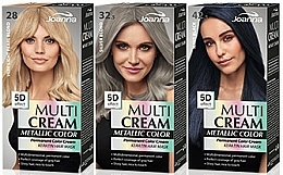 Perfumería y cosmética Tinte para cabello - Joanna Multi Cream Color Metallic