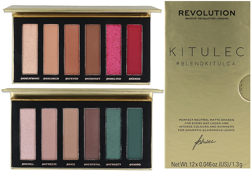 Set de paletas sombras de ojos (2xsombras de ojos/7.8g) - Makeup Revolution Kitulec #BlendKitulca Shadow Palette