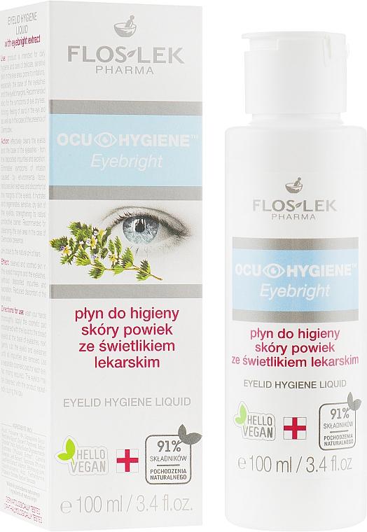 Fluido limpiador para contorno de ojos con extracto de eufrasia - Floslek Eyebright Eyelid Hygiene Liquid
