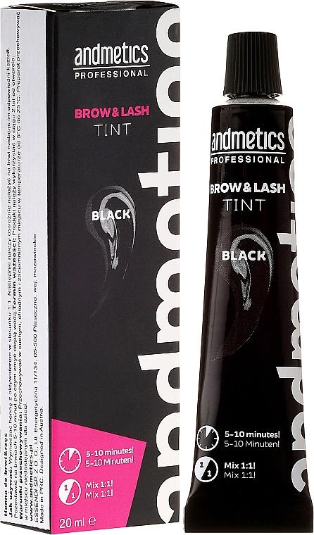 Tinte para pestañas y cejas - Andmetics Brow & Lash Tint