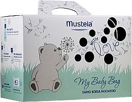 Perfumería y cosmética Set para bebés - Mustela My Baby Bag Set (agua limpiadora/300ml +gel/200ml + crema facial/40ml + crema corporal/50ml + toallitas húmedas/25uds. + bolso)