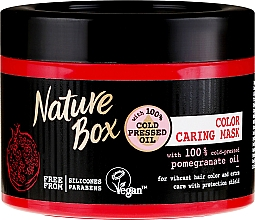 Perfumería y cosmética Mascarilla capilar protectora con aceite de granada - Nature Box Pomegranate Oil Maska